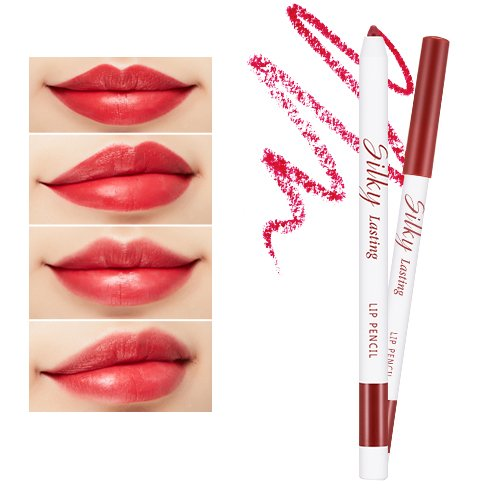 Silky Lasting Lip Pencil (RD03/Melting Kiss)