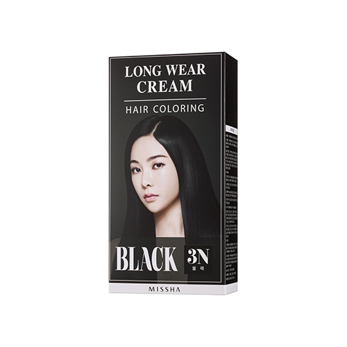 Long Wear Cream Hair Coloring (Black)