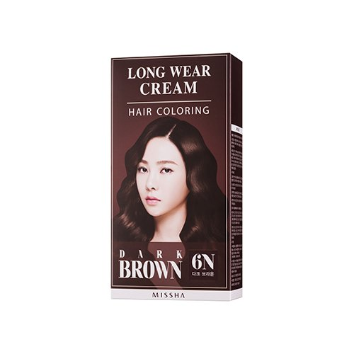 Long Wear Cream Hair Coloring (Dark Brown)