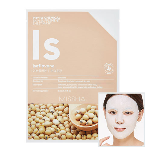 Phytochemical Skin Supplement Sheet Mask (Isoflavone/Deep Moisture)