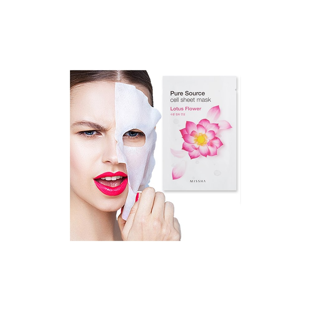 Pure Source Cell Sheet Mask (Lotus)