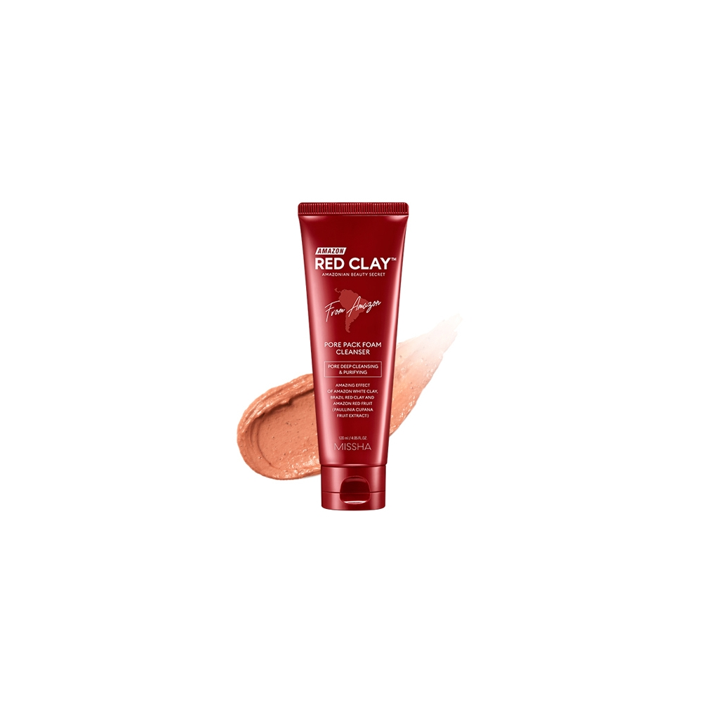 Amazon Red Clay Pore Pack Foam Cleanser