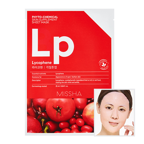 Phytochemical Skin Supplement Sheet Mask (Laycophene/Peeling Tone Up)