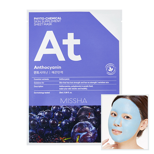 Phytochemical Skin Supplement Sheet Mask (Anthocyanin/Lifting)